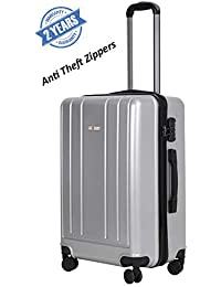 Swiss Traveller 4 Wheel Polycarbonate Anti Theft ZIIPPER Luggage Bag (20 INCH / 55 cm Cabin Size) Suitcase