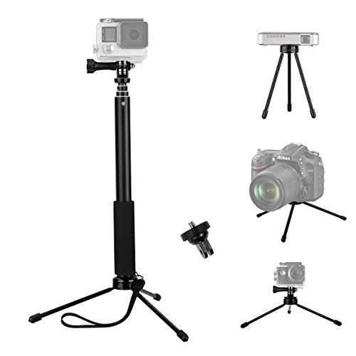 Galleria fotografica Tekcam 94cm allungabile selfie stick con mini treppiede per Gopro Hero 6/5/Yi 4K/Akaso EK7000/Crosstour/Apeman/Dbpower/Fitfort impermeabile sport Action Camera