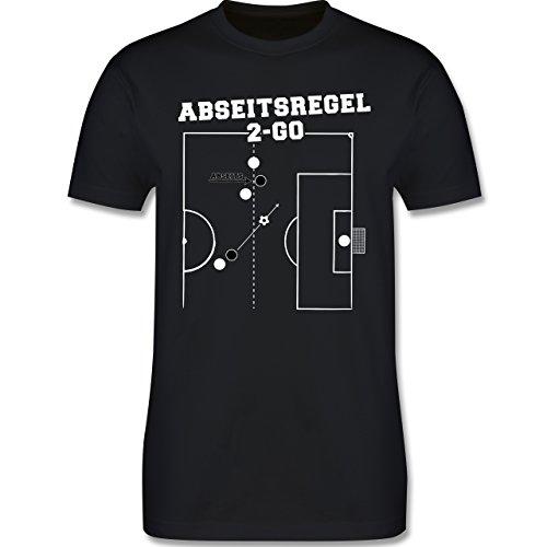 Fußball - Abseitsregel-2-Go - Herren Premium T-Shirt Schwarz