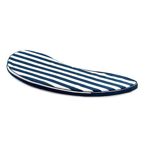 Gardenista Gold Collection gardenista ® Elfenbein Oasis Stripe paspeliert Banana Bench Sitzkissen-Outdoor Garten