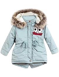 K-Youth Niñas Abrigo de Algodón Invierno Grueso Abajo Chaqueta con Capucha Trenca Abrigo para