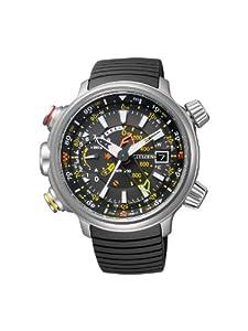 Citizen Promaster Land - Altichron - Reloj de cuarzo para hombre, con correa de goma, color negro de Citizen