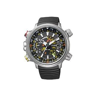 Citizen Promaster Land – Altichron – Reloj de Cuarzo para Hombre, con Correa de Goma, Color Negro