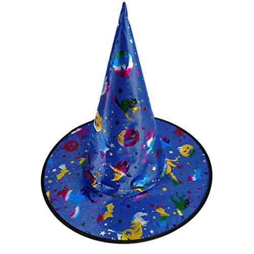 Kostüm Folie Hut - ruiruiNIE Mode Bunte Erwachsene Kinder Hexenzauberer Hut Folie Kürbis Muster Kostüm Halloween Party Maskerade Cosplay Kostüm-5#