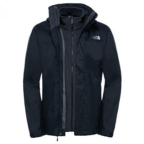 The North Face Herren Doppeljacke Evolve II Triclimate, schwarz (Tnf Black), XL, T0CG55 (Jacke Jeans Bb)