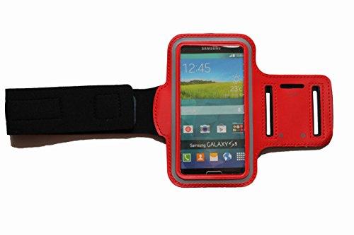 BlankL Rot Sport-Armband für Samsung Galaxy J7 (2016) in Rot, Fitness Running Handy-Tasche mit Kopfhöreranschluss Case Jogging Schutz mit Schlüsselfach