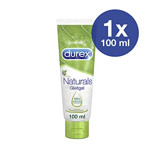 Durex Naturals Gel Lubrificante Intimo con 100% Ingredienti Naturali, 100 ml