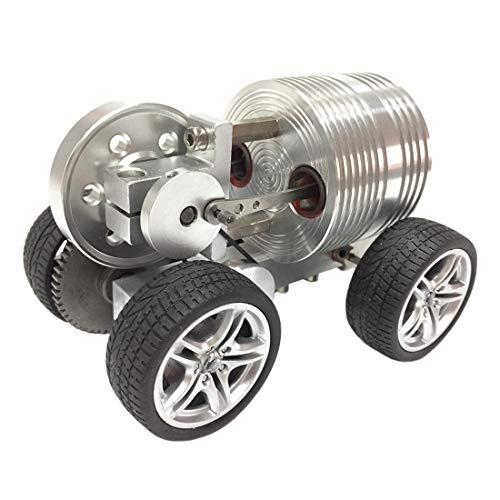 IT IF IT Dampfmaschine Modell Stirlingmotor Sterling Engine startbare erweiterte Version Rad Auto Spielzeug Geschenk ab 14 Jahren