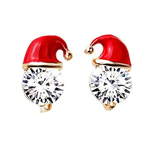 Ogquaton Weihnachten Santa Hut Ohrringe Stud Ohrstecker für Frauen Mädchen Teens Kinder Weihnachtsfeier Schmuck Geschenke langlebig und nützlich