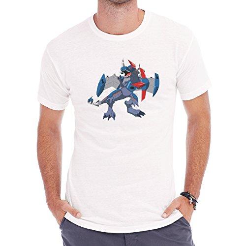 Digimon Agumon Greymon Wargreymon Wargreymon Fly Wings Herren T-Shirt Weiß