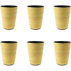Conjunto de 6 Vaso De Bambú .400 ML, reutilizables Vasos,del partido amistoso de Eco