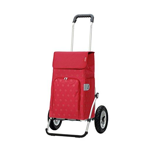 Andersen Shopper Royal mit kugelgelagertem Luftrad 25 cm und 43 Liter Tasche Lizzy rot
