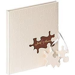 Libro de Visitas con pieza de puzzle, 23x25 cm