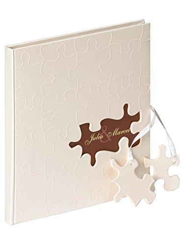 Walther GB-173 - Libro de Visitas, Puzzle, 23x25 cm, 144 Páginas Blancas