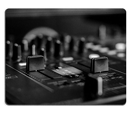 Luxlady Mousepads Black White photo of a DJ mixing board IMAGE 22014896 Customized Art Desktop Laptop Gaming mouse Pad