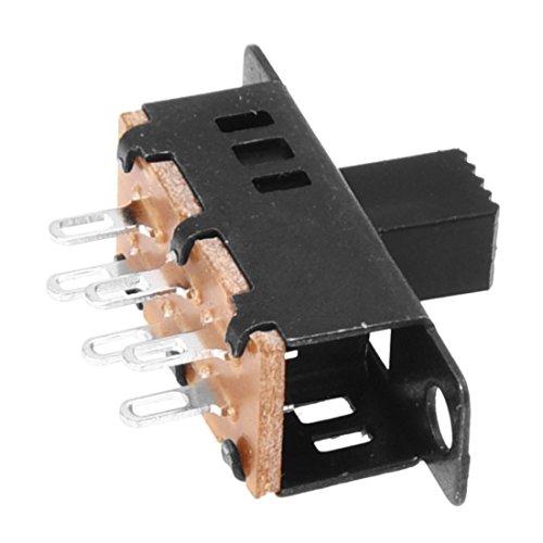Schiebeschalter - TOOGOO(R)10 Stueck Hoch Drehknopf 6 Pin 3 Position DPDT Platte Schiebeschalter 0,5A 50V DC -