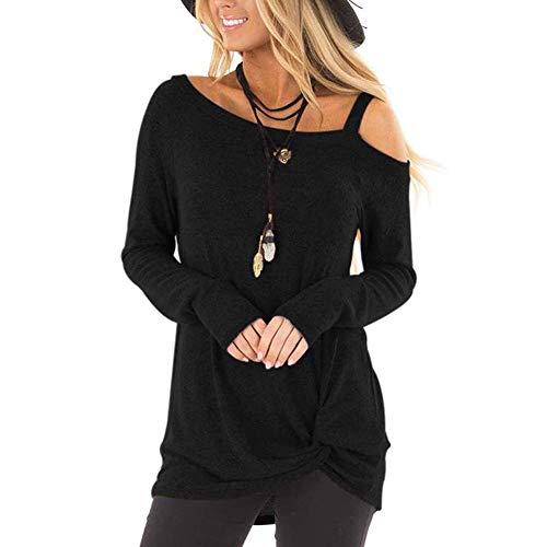 Lover-Beauty Camisa Mujer Casual Suelto Manga Corta Vestido Blusa Encaje Blanco Negro