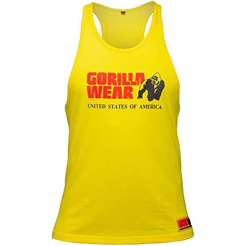 Gorilla Wear Classic Stringer Tank Top Bodybuilding-Fitness Shirt Herren Gelb L