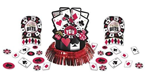 Confettery - Party Deko Tischset Casino Karten, mehrteilig , Mehrfarbig