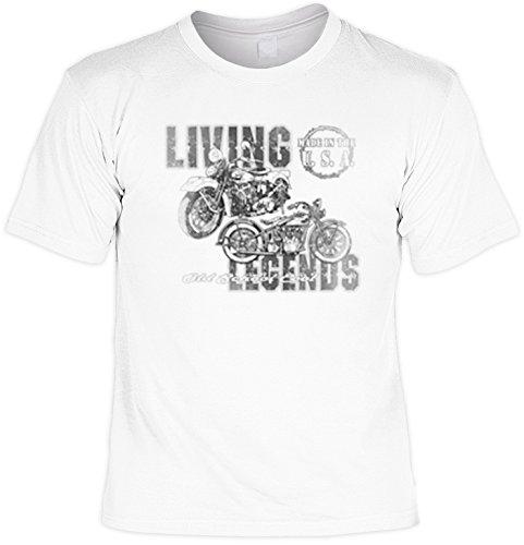 Biker T-Shirt Motiv Living Legends Bike Shirt für Biker Rock T-Shirts für Herren Männershirt Laiberl Leiberl Hemad Schwarz