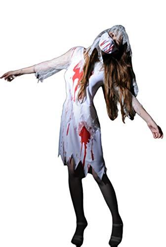 HYTM Halloween Sexy Metamorphosis Ärztin Krankenschwester-Wäsche Zombie Vampire Role Player Geisterbraut Kostüm Set (Vampir Krankenschwester Kostüm)