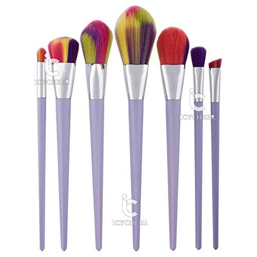 7 pcs Maquillage Pinceaux Poudre Fondation Fard À Paupières Eyeliner Lip Nez Brosse Outil