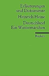 Deutschland. Ein Wintermarchen: Erlauterungen Und Dokumente by Heinrich Heine (1996-01-01)