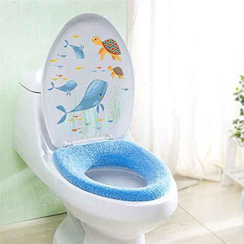 isch Schildkröte Wandaufkleber Abziehbilder Kunst Badezimmer Fenster Kühlschrank Toilette Badezimmer Dekoration ()