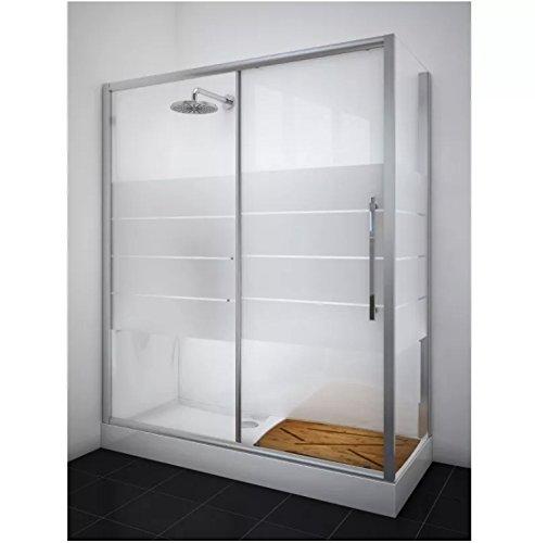 Kit Ersatz Badewanne mit Dusche und Duschtasse mit Platten 170 (Dusche-badewanne-wand-platten)