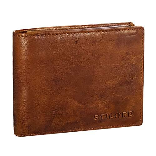Antik Leder Karte (STILORD 'Ethan' Vintage Leder Geldbörse Herren Portemonnaie Geldbeutel mit 7 EC Karten-Fächer Münzfach und Ausweisfach Brieftasche aus echtem Leder, Farbe:antik - Used)