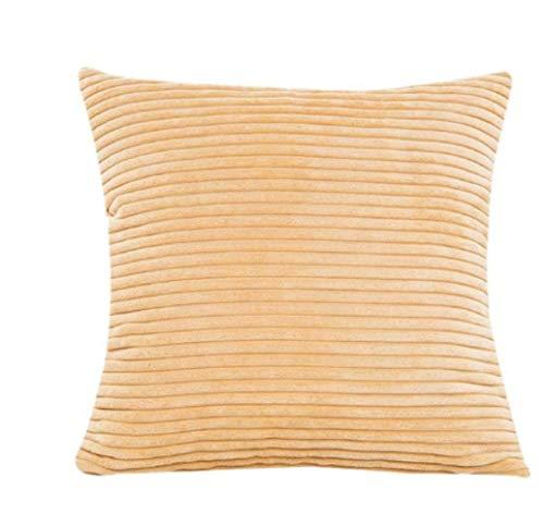 fdsafd Neue Plüsch Kissenbezug Soft Fur Liner Covercorn Bar Platz Taille Dekokissen Abdeckung Geschenk Drop Pad (gelb) -