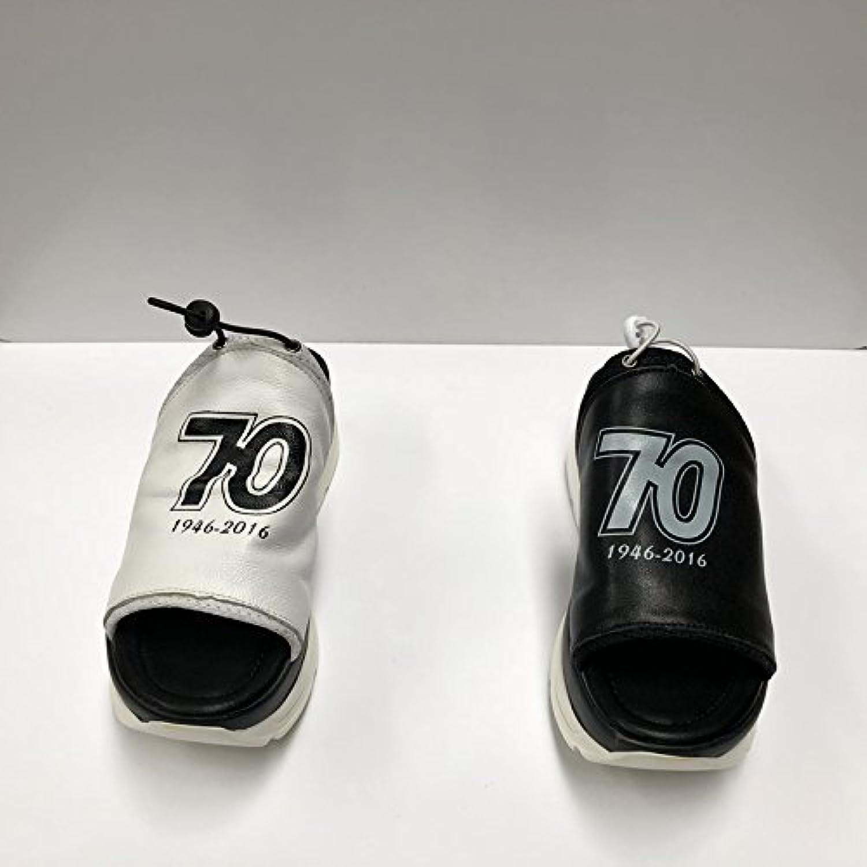 BAOZIV587 - Zapatillas de verano para mujer (piel ligera, antideslizantes, 38 cm), color negro