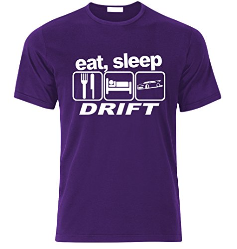 Eat sleep DRIFT T-shirt Best Fan Racing Speed Turbo size S-XXL Weihnachtsgeschenke Xmas Lila