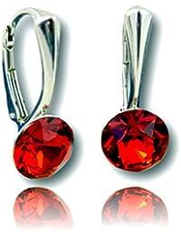 Crystals & Stones * Xirius pin/75 –Pendientes con cristales de Swarovski®, plata de ley 925 * muchos colores –pendientes con caja de regalo
