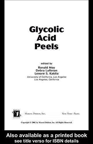 Glycolic Acid Peels (Basic and Clinical Dermatology) 1st Edition by Moy, Ronald, Luftman, Debra, Kakita, Lenore S. (2002) Hardcover