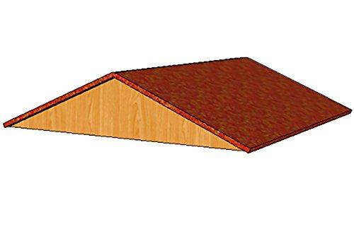 Toit amovible 100x100 cm pour enclos Poules shingle rouge
