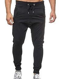 Pantalones CháNdal Hombre,ZARLLE Hombre Moda Pantalones Color SóLido PantalóN De CháNdal con CordóN Slim
