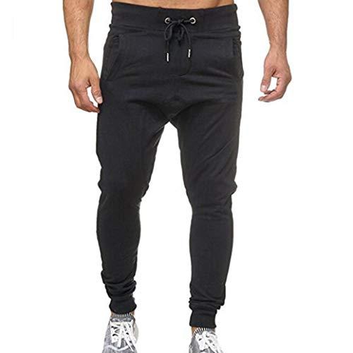 Pantalones CháNdal Hombre,ZARLLE Hombre Moda Pantalones Color SóLido PantalóN De CháNdal con CordóN...