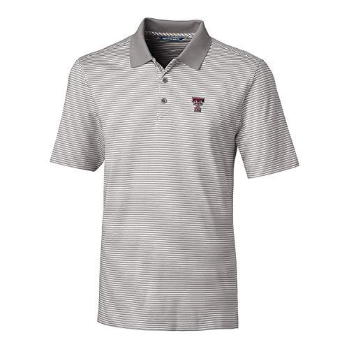Cutter & Buck NCAA Herren Poloshirt, kurzärmlig, gestreift, gestreift, Herren, Short Sleeve Tonal Stripe Forge Polo, poliert, Small (Herren Gestreiften Tonal Hemd)