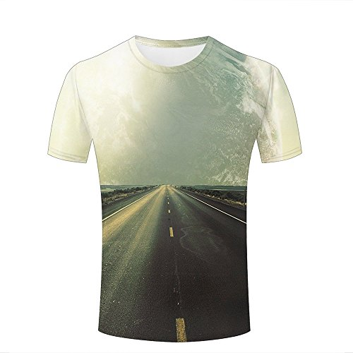 Mens Womens 3d Print T Shirtsmassive planet in the sky Graphic Fashion Couple Tees Top Short Sleeve B