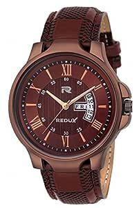 Redux Analogue Date & Time Men's & Boy's Watch (Brown)