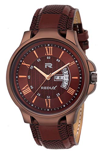 Redux Analogue Brown Dial Men's & Boy's Stylish Watch