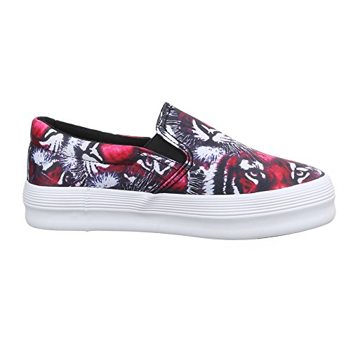 Damen Schuhe, 51131-Y, HALBSCHUHE SLIPPER Schwarz Pink