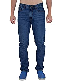 New Mens Design Fashion Jeans Denim Regular Slim Fit Zip Fly Straight Cut Pants