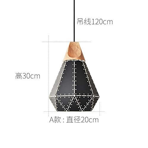 Tisch Kronleuchter kreative Persönlichkeit Schlafzimmerlampe A Abschnitt schwarz Durchmesser 20cm mit monochromen LED warmes Licht 9 Watt Birne