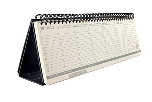 Sigel C1880 Tischkalender 2018, ca. 30 x 14 cm, Hardcover, schwarz, CONCEPTUM