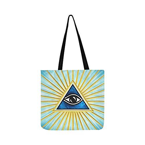 Eye of Providence All Seeing Eye of God Symbol Canvas Tote Handtasche Umhängetasche Crossbody Taschen Geldbörse für Damen und Herren Einkaufstasche