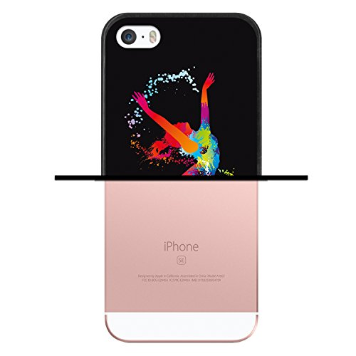 iPhone SE iPhone 5 5S Hülle, WoowCase Handyhülle Silikon für [ iPhone SE iPhone 5 5S ] London Symbole Handytasche Handy Cover Case Schutzhülle Flexible TPU - Transparent Housse Gel iPhone SE iPhone 5 5S Schwarze D0030