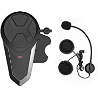 1x Auriculares Bluetooth para Moto, ENCHICAS BT-S3 Manos Libres Intercom Comunicadores Intercomunicador Casco