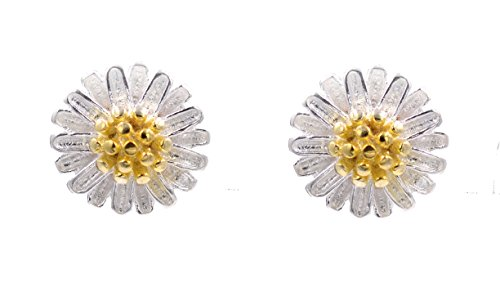 Sweet Daisy Flower Stud Earrings (In Organza Pouch).